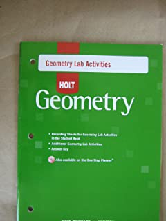 Holt Geometry © 2007: Lab Activities with Answers