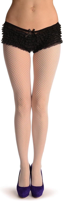 White Double Mesh Fine Fishnet - Pantyhose (Tights)