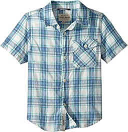 Lucky Brand Kids - Short Sleeve Yarn-Dye Plaid Shirt (Little Kids/Big Kids)
