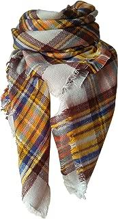 MOTINE Tartan Blanket Scarf Stylish Winter Warm Pashmina Wrap Shawl for Women
