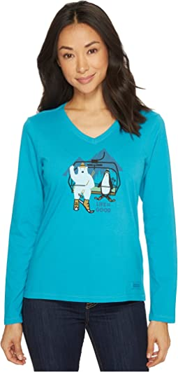 Life is Good - Bear Penguin Ski Long Sleeve Crusher Vee