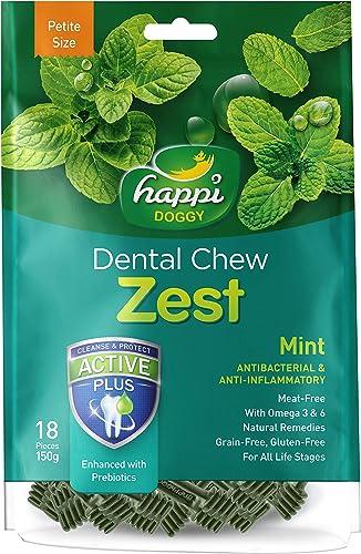 Happi Doggy Gluten-free Dog Dental Care Treats Mint, 150 g