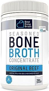 Bone Broth Caldo concentrado de hueso bovino - Rico en Colágeno para mejorar la salud del intestino, la firmeza de la piel...