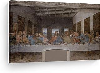 Smile Art Design Last Supper Wall Art by Leonardo Da Vinci Canvas Wall Art Canvas Print Famous Art Painting Reproduction F...