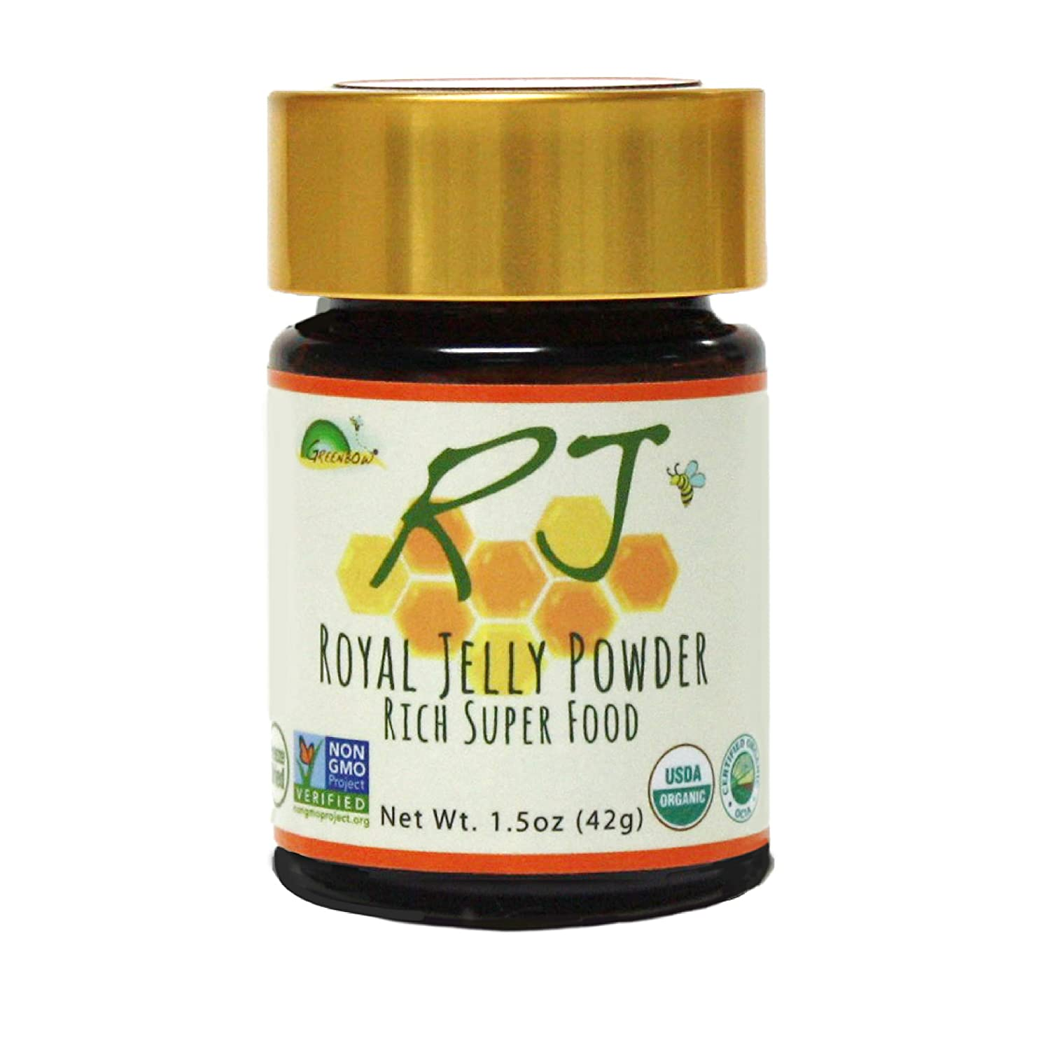 GREENBOW Royal Jelly Powder– 100% USDA Product Ranking integrated 1st place Ro Organic Certified