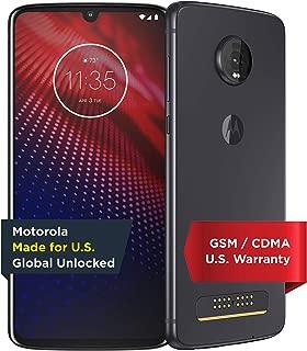 Moto Z4 – Unlocked – 128 GB – Flash Gray (US Warranty) - Verizon, AT&T, T-Mobile, Sprint, Boost, Cricket, Metro - PAF60007US