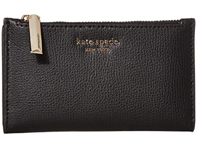 Kate Spade New York Sylvia Small Slim Bifold Wallet (Black) Cosmetic Case
