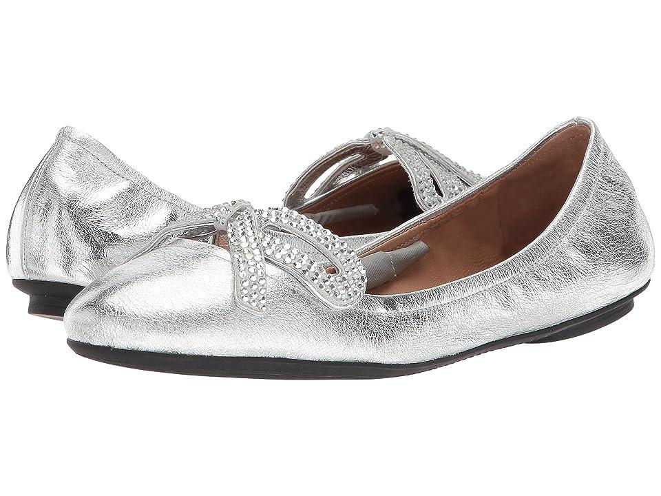 Marc Jacobs Willa Strass Bow Ballerina Flat (Silver) Women