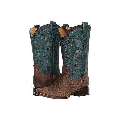 Roper Quiet Action (Brown/Blue) Cowboy Boots