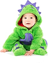 funstuff Dinosaur Baby Boys Plush Fleece Costume Coverall with Footies 3-6 Months