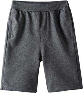 Boys Casual Soft Cotton Elastic French Terry Jogger Active Pocket Shorts