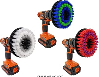 Drill Brush Attachment Set By Beast Brush: Spin Power Scrubber For Fast And Easy Cleaning For All Surfaces, Soft –Medium –Stiff Bristles For Bathroom Shower And Tub, Kitchen Tiles, Carpet, Cars