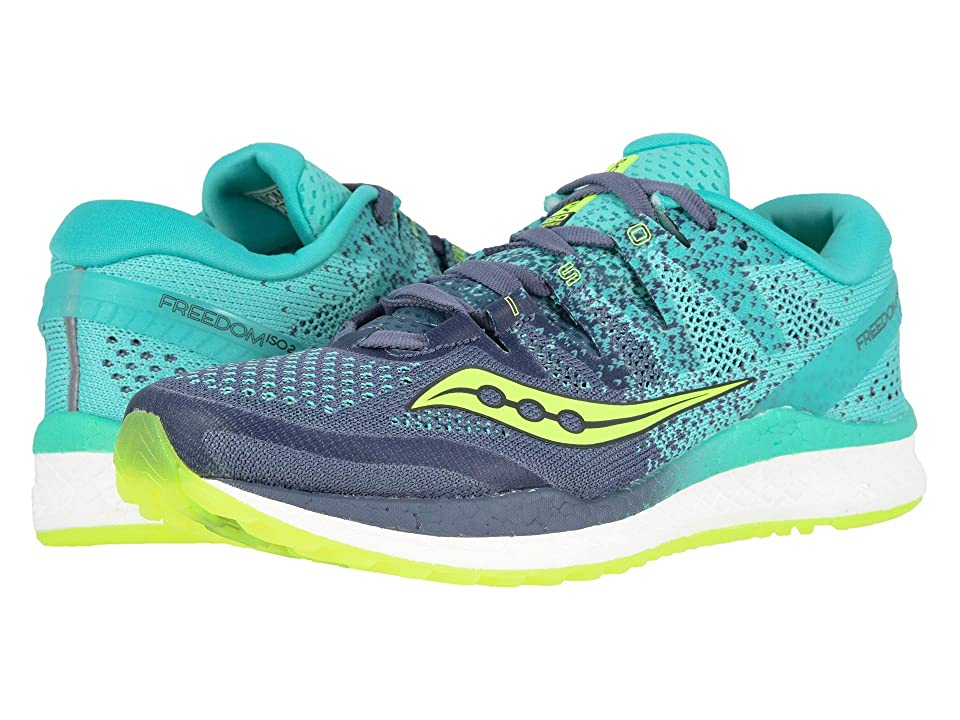 Saucony Freedom ISO 2 (Grey/Teal) Women's Shoes