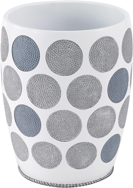 Avanti Linens 13870 F WHT Dotted Kreise Abfalleimer, weiß B0719CN5TX | Vielfalt