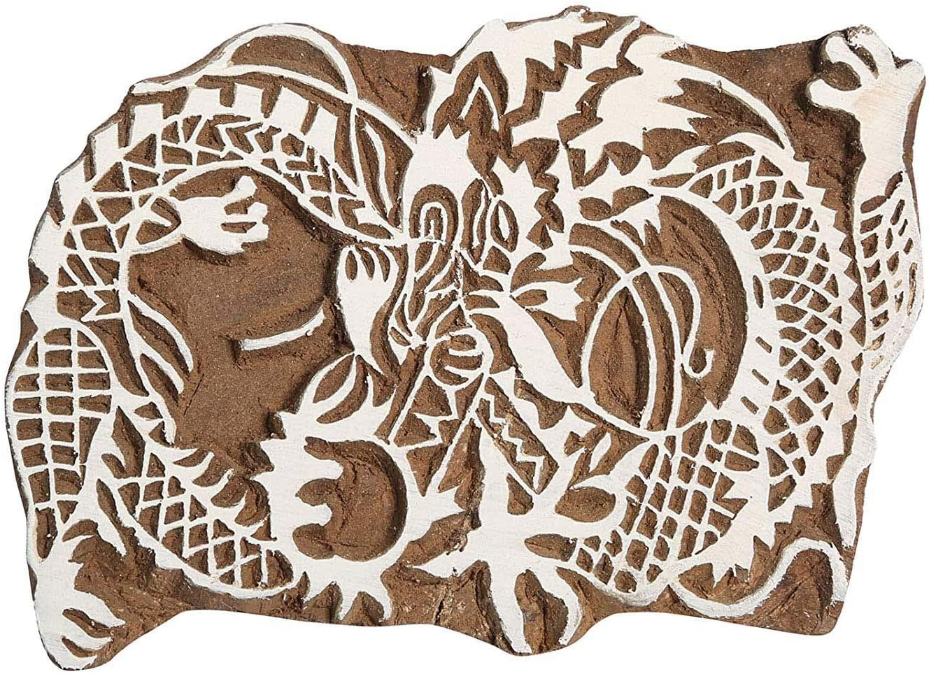 Sharvgun Indian Very popular Decorative Textiles Dragon Carved Wo Stamps Hand safety
