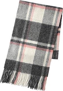 翎 オーストラリア産 ウール 100% マフラー レディース メンズストール 羊毛 スカーフ チェック 秋冬 ギフト プレゼント
