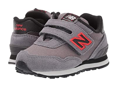 New Balance Kids 515 Hook Loop (Infant/Toddler) (Castlerock/Velocity Red) Boys Shoes