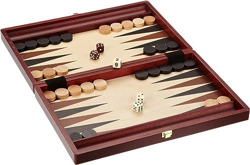 Luxus Backgammon Tavla Stein Optik XXL  B WARE