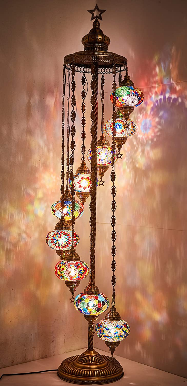 DEMMEX - 9 Big Sacramento Mall Max 69% OFF Globes Turkish Floor Moroccan Lamp Light Mosaic