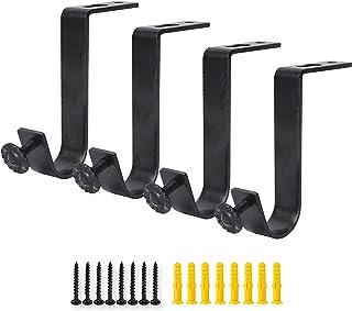 comprar comparacion AddGrace - Soporte para barra de cortina (4 unidades, resistente, para barra de cortina de 11/5