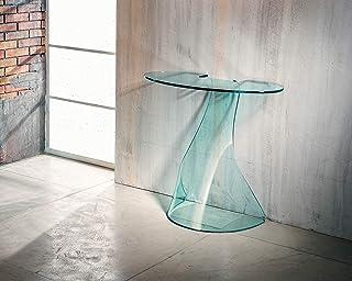 IMAGO FACTORY Ninfea | Console de salon – Pont en verre courbé, meuble de salon moderne, console de salon en verre, meuble...