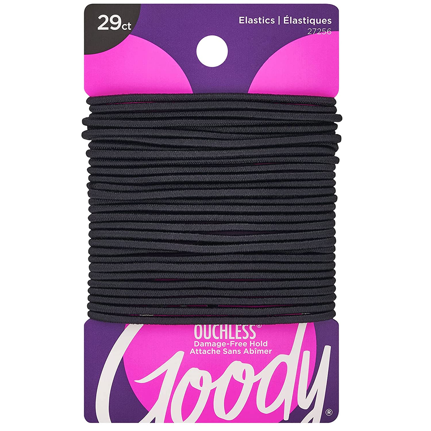 Goody Women's Limited price sale Ouchless 2 Washington Mall mm Elastics Black 29 Packaging Count