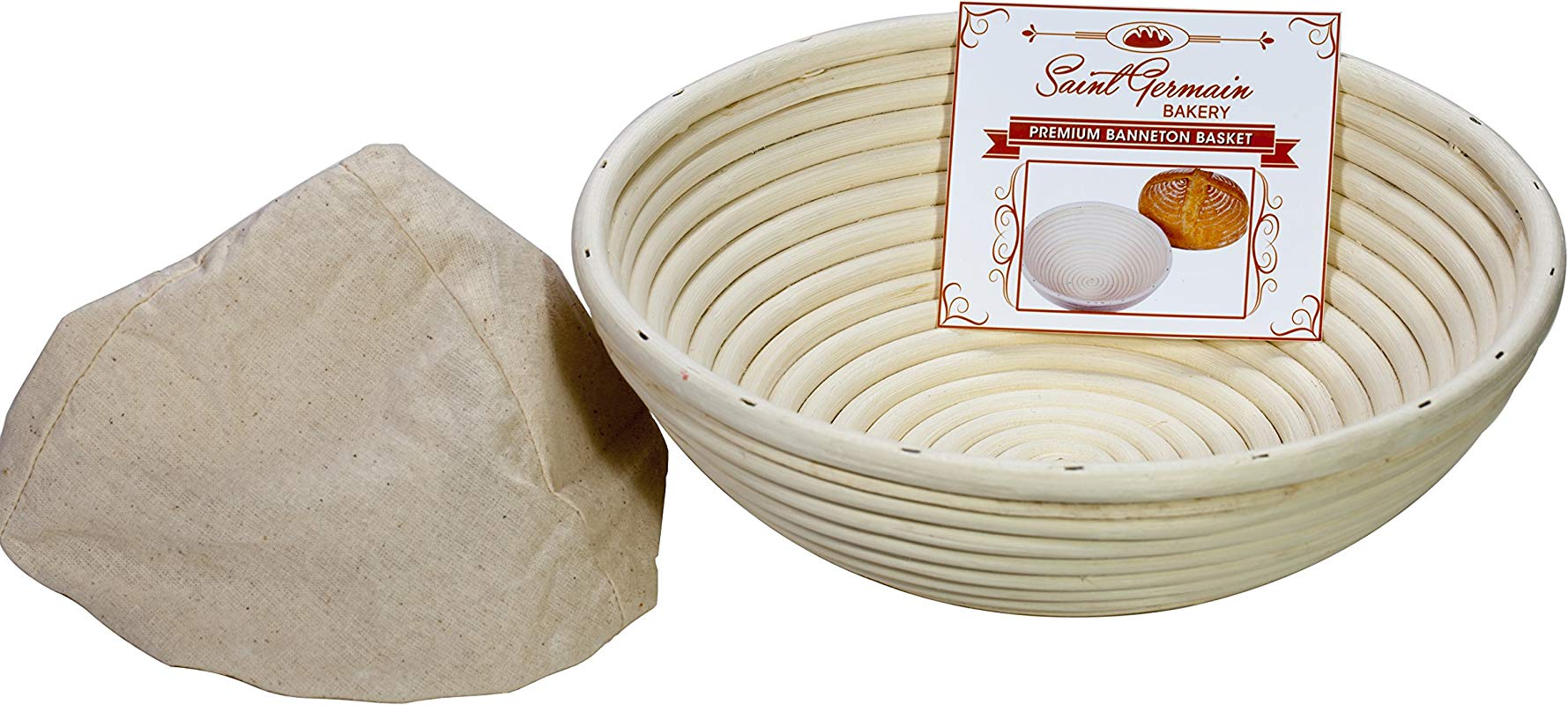 10 Inch Premium Round Bread Banneton Basket With Liner Perfect Brotform Proofing Basket For Making Beautiful Bread