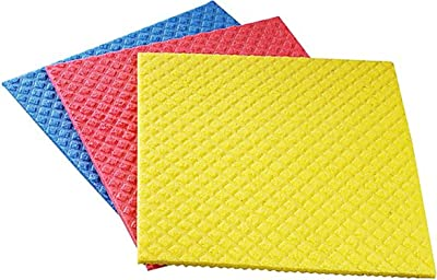 NinjaClean Microfiber Kitchen Biodegradable Cellulose Wiping Sponge (21x18 cm) - Pack of 10