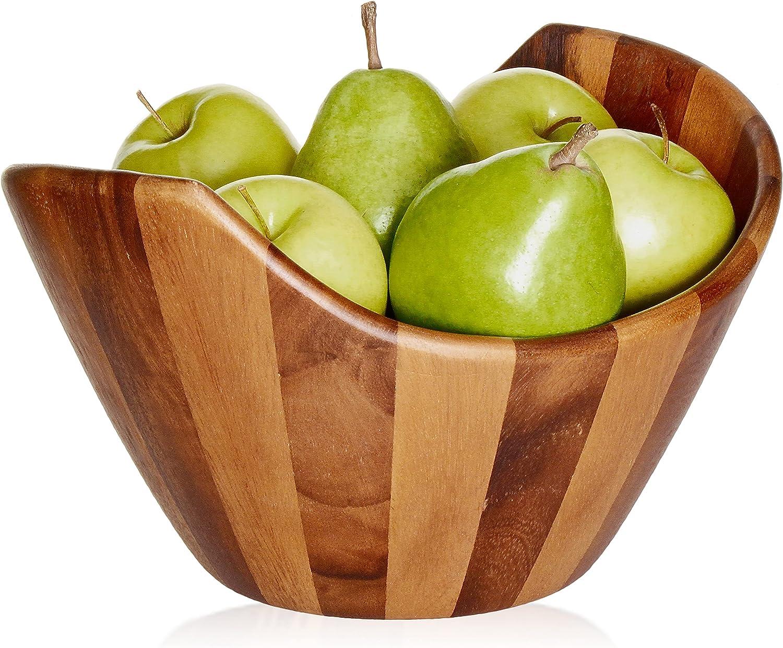 Large free shipping Acacia Wooden Salad Bowl 12