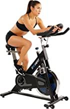 EFITMENT Indoor Cycle Bike, Magnetic Cycling Trainer Stationary Exercise Bike w/ 40 lb Chromed Flywheel, Belt Drive and LCD Monitor with Ipad/Tablet Holder- IC031