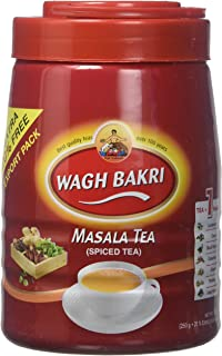 Wagh Bakri Masala Tea Spiced Tea Leaves in Export Pack,300 grams / 10.58 oz