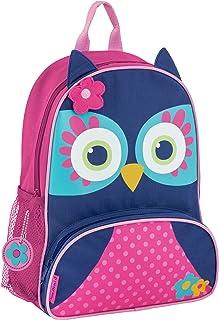 Stephen Joseph Girls' Little Sidekicks Backpack, Owl, Navy