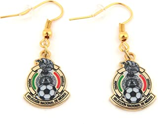 JF Sports Canada International Soccer Mexico National Team Earring, Small