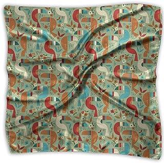 Square Satin Scarf Toucan Silk Like Lightweight Bandanas Head Wrap Neck Shawl Headscarf