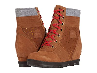 SOREL Kids Lexietm Wedge II (Little Kid/Big Kid) (Velvet Tan) Girls Shoes