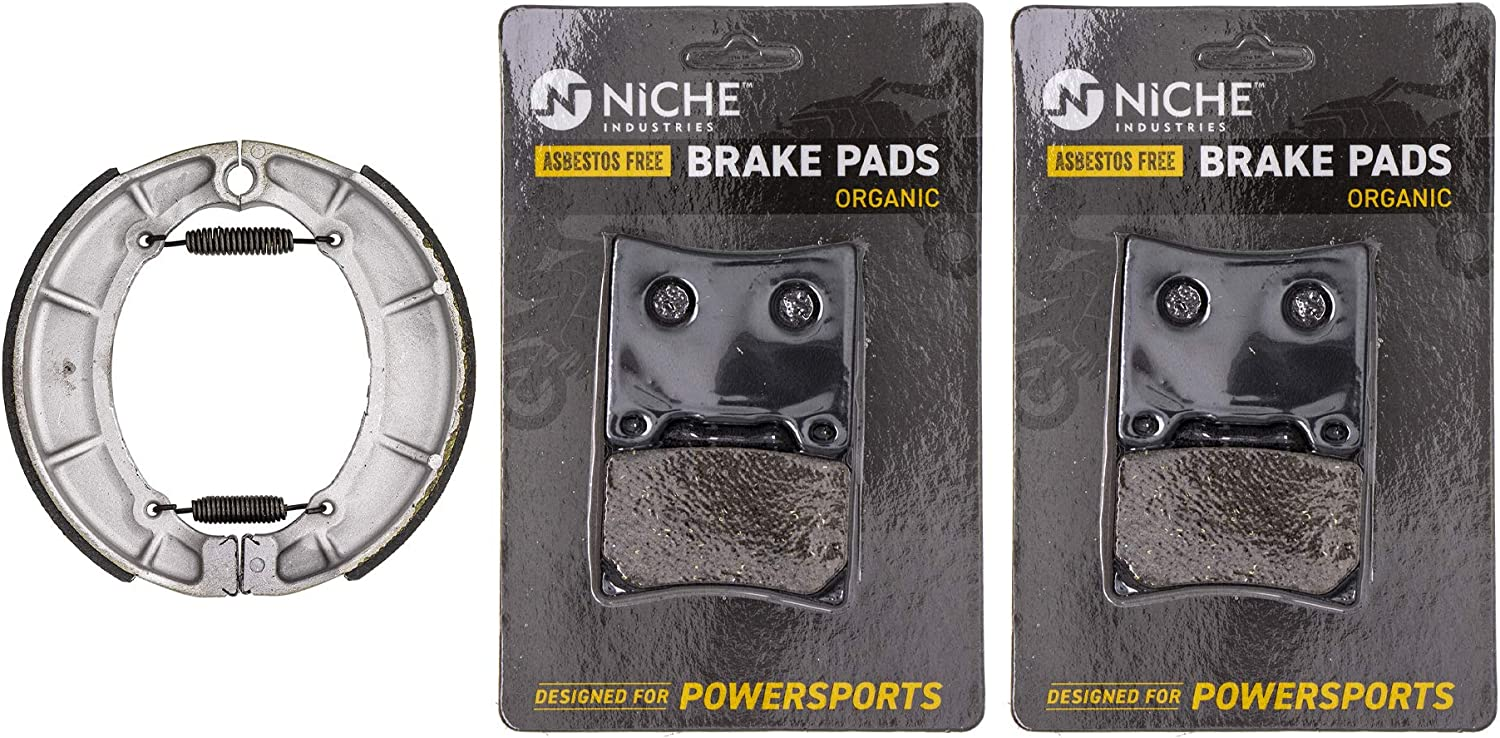 Max 88% OFF NICHE Brake Pad with Shoe Set for 700 1100 100 Max 90% OFF 750 Virago Yamaha
