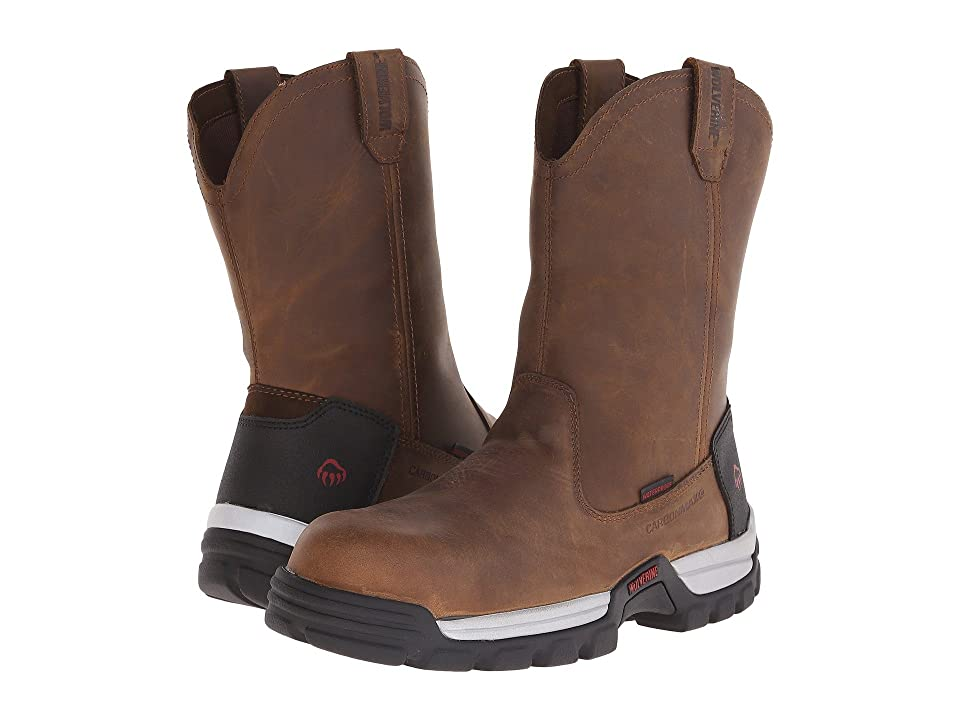 Wolverine Tarmac 10 Safety Toe Wellington (Brown) Men