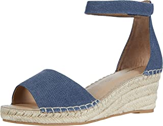 Rockport Women's Slide Wedge Sandal, Black Rafia