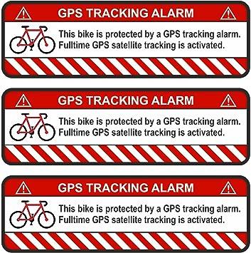 Finest Folia 3x Gps Aufkleber Fahrrad Motorrad Auto Alarm Warnung Anti Diebstahl Sticker Tracker Gesichert R055 Weiß Fahrrad Auto