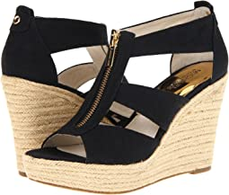 41b89307c730 Black Canvas. 1712. MICHAEL Michael Kors. Damita Wedge