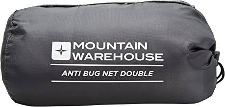Mountain Warehouse Vacation Mosquito & Bug Net - Double - Fine Honeycomb Netting with Pack Away Bag - 210cm X 180cm X 120cm 400gm - Ideal for Travelling, Walking & Camping