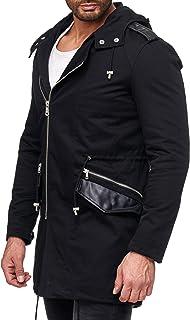 Red Bridge Men's Long Coats Slim-Fit Oversized Basic Zipper Modern Transition Jackets