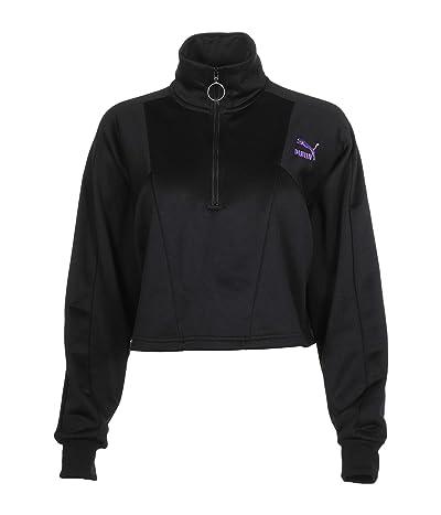 PUMA Tailored For Sport Cropped 1/2 Zip (Puma Black/Multi) Women