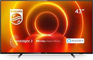 Philips Ambilight 43PUS7805/12 TV 108 cm (43 inch) LED TV (4K UHD, P5 Engine, Dolby Vision, Dolby Atmos, HDR 10+, Alexa sp...