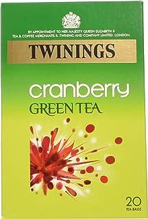 Twinings - Cranberry Green Tea - 20 Tea Bags - 40g