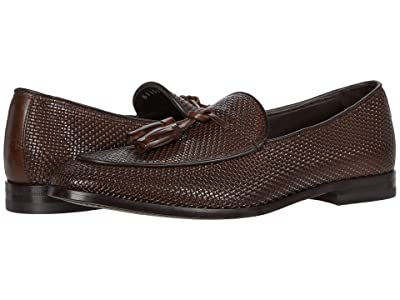 Canali Printed Woven Loafer (Brown) Men