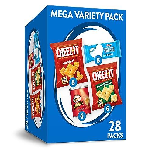 Kellogg's Mega Variety Pack Lunch Snacks Office and Kids Snacks Variety Pack 28.1oz Box (28 Packs)