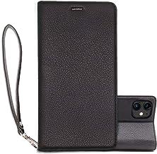 iPhone 11 ケース 6.1インチ 手帳型 耐衝撃 本革 スマホケース 薄型 高級感 カード収納 マグネット スタンド機能 スマホカバー 衝撃吸収 四隅滑り止め ワイヤレス充電対応 アイフォン 11 ケース 全面保護 (iphone 11, ブラック)