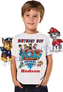Paw Patrol Birthday Shirt, Birthday Family Shirt, Paw Patrol Birthday Boy Shirt, Paw Patrol Party Favor, Add Any Name and Age, Visit Our Shop