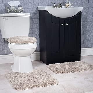 plush bath rug set